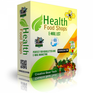 Health Food Shops Email List